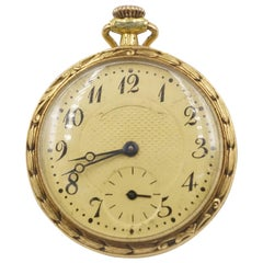 1906 Tiffany & Co. Diamond, Natural Ruby and Enamel 18 Carat Gold Pocket Watch