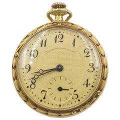 1906 Tiffany & Co. Diamond, Natural Ruby and Enamel 18 Carat Gold Pocket Watch