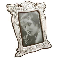 1907 Art Nouveau Antique Edwardian Sterling Silver Photograph Frame