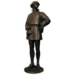 1907 Edelmann Bronze Sculpture by Rudolf Marcuse