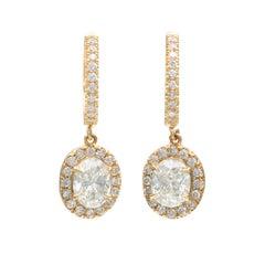 1.91-ct Oval Diamond Drop Earrings by Salavetti