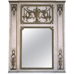 1931 NY Waldorf Astoria Hotel Urn Motif Carved Over Mantel Mirror from Room 1064