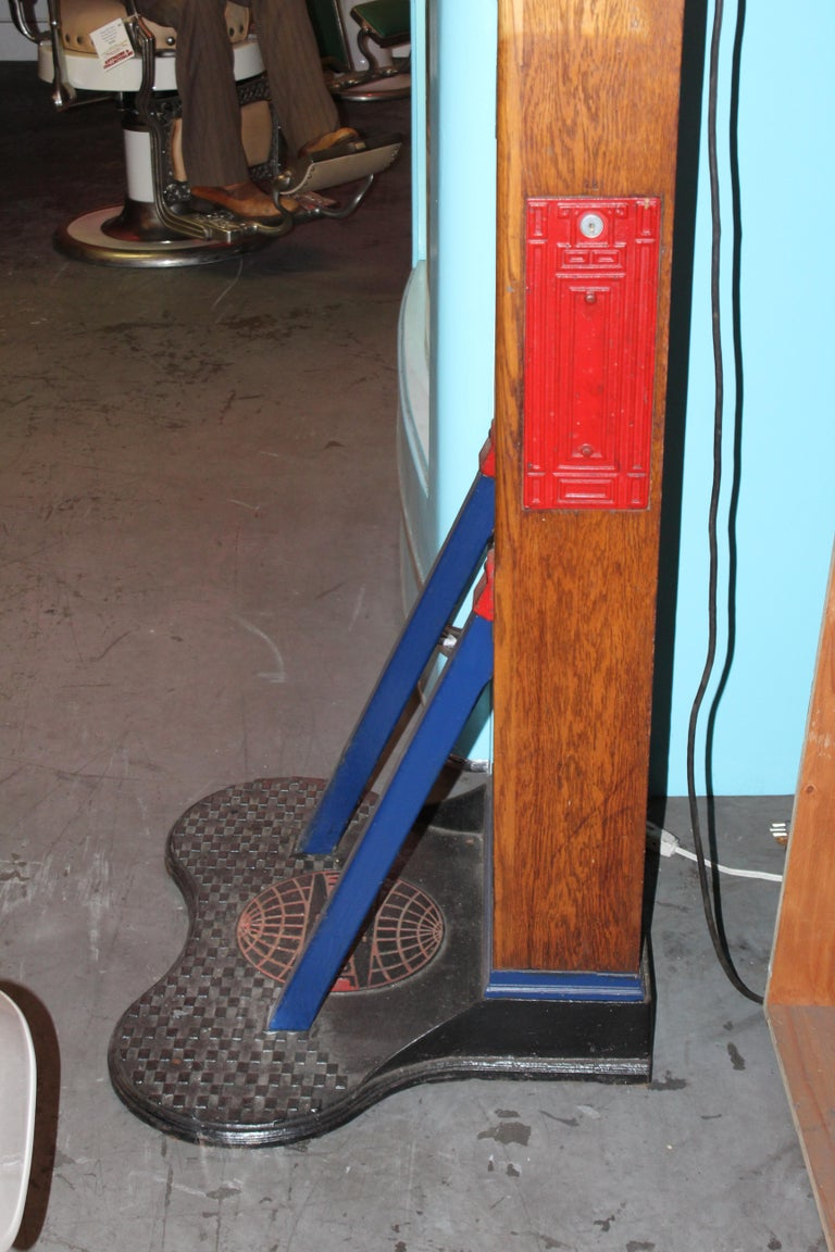 "1910s-1920s Mutoscope ""Punch-a-bag"" Floor Punching Bag Game For Sale 6"