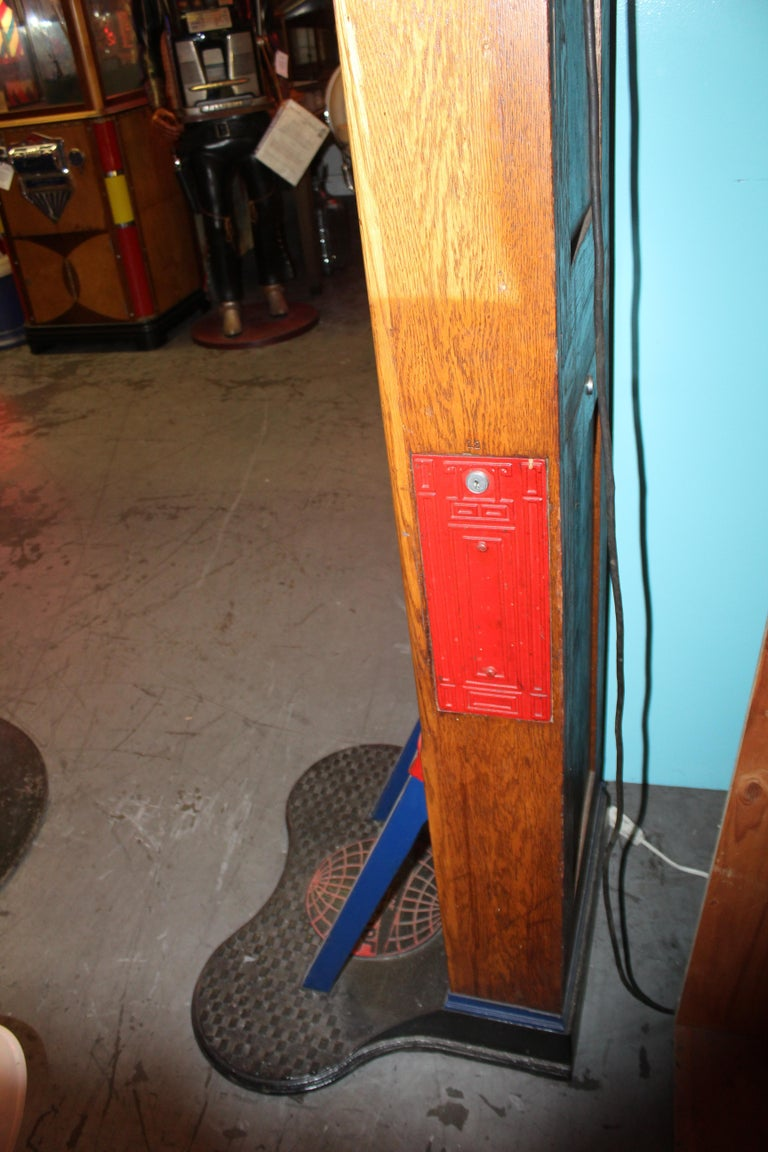 "1910s-1920s Mutoscope ""Punch-a-bag"" Floor Punching Bag Game For Sale 8"