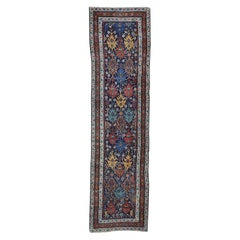 1910 Antique Northwest Persian Wide Runner Rug Bold and Striking