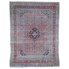 1910 Antique Persian Bijar Pure Wool Hand Knotted Oriental Rug