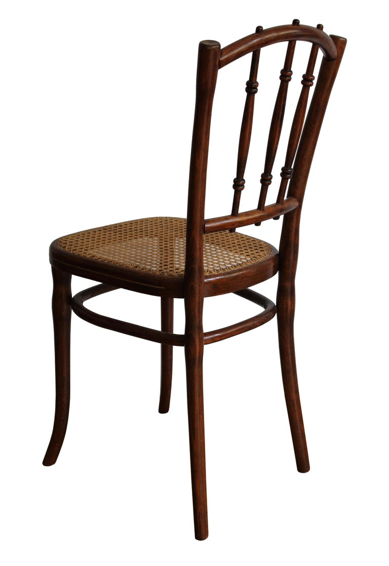 Other 1910 Art Nouveau Pair of Dining Chairs by Thonet Austria For Sale