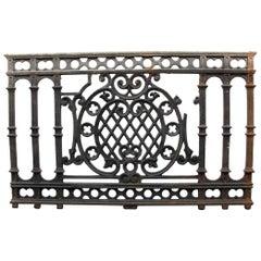 1910 Black Cast Iron Balcony