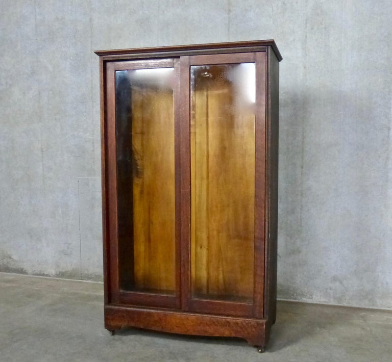 Kitchen Cabinets In Surrey Bc: 1910 Dark Oak Rolling Bookcase Or Cabinet For Sale At 1stdibs