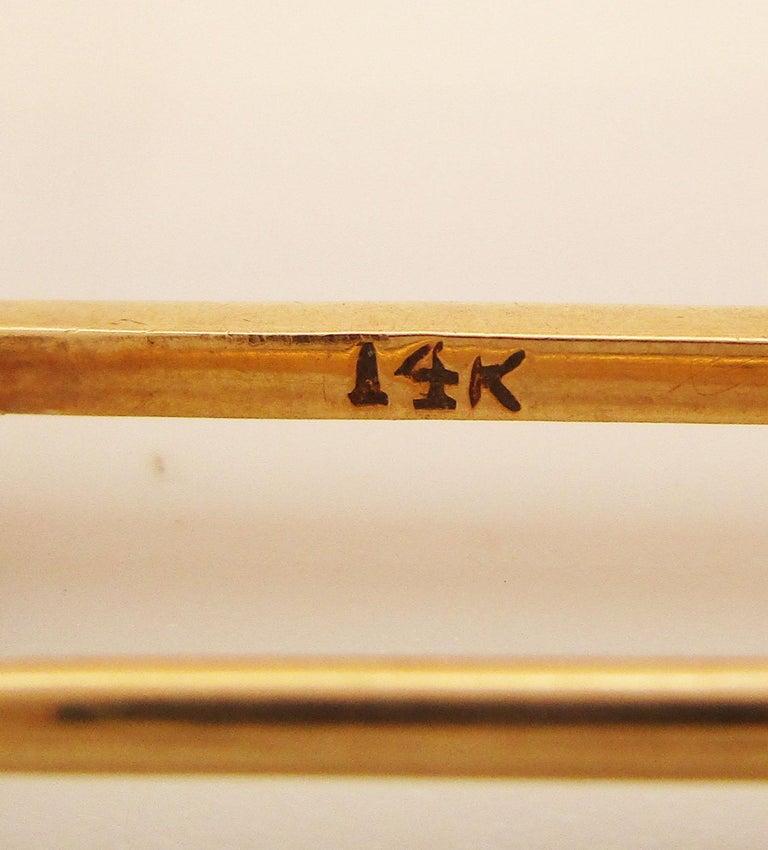 1910 Edwardian 14 Karat Yellow Gold Collar or Stock Pin For Sale 3