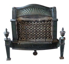 1910 Federal Style Cast Iron Gas Fireplace Insert
