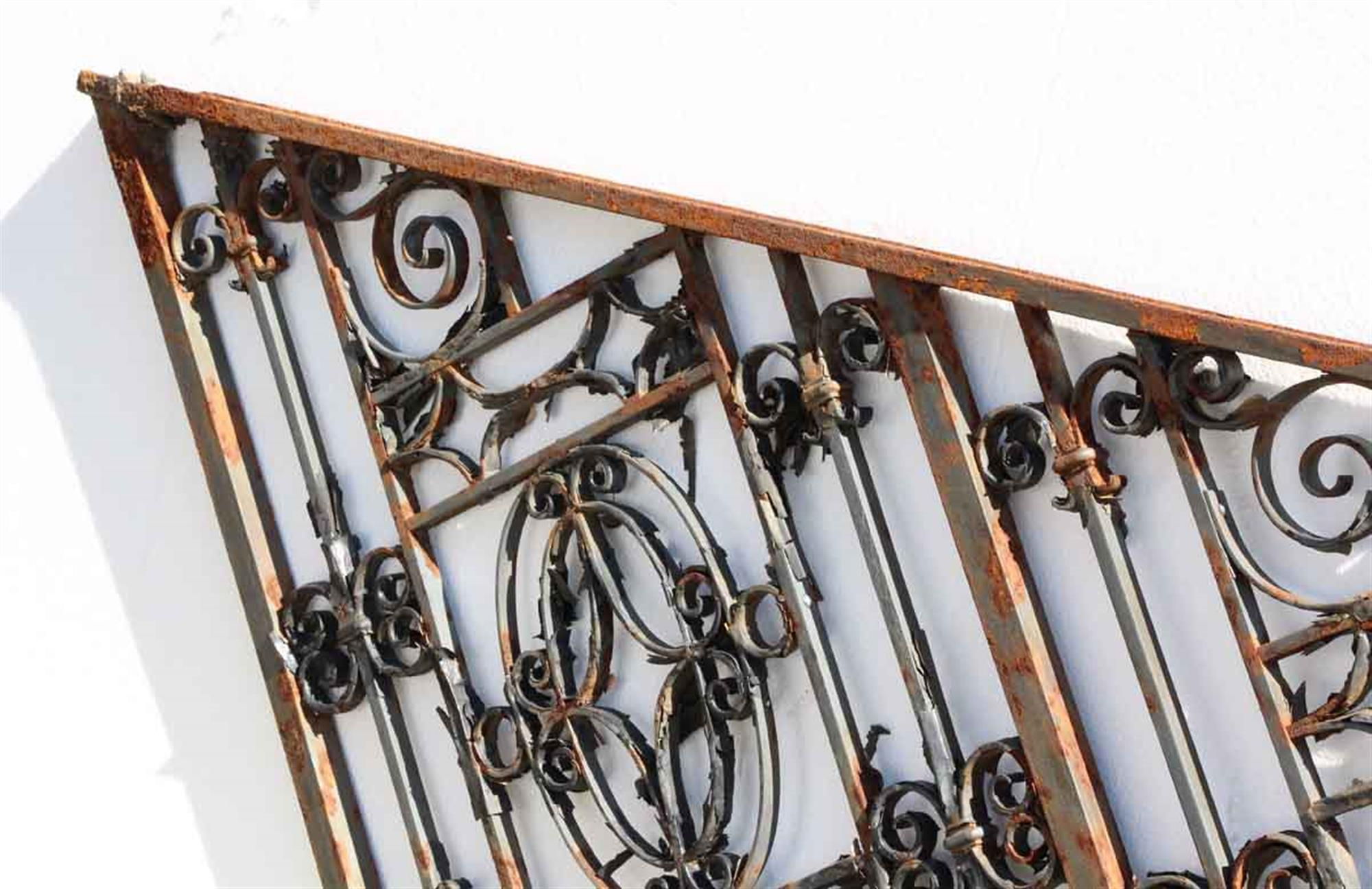 1910 Georgian Wrought Iron Stair Railing