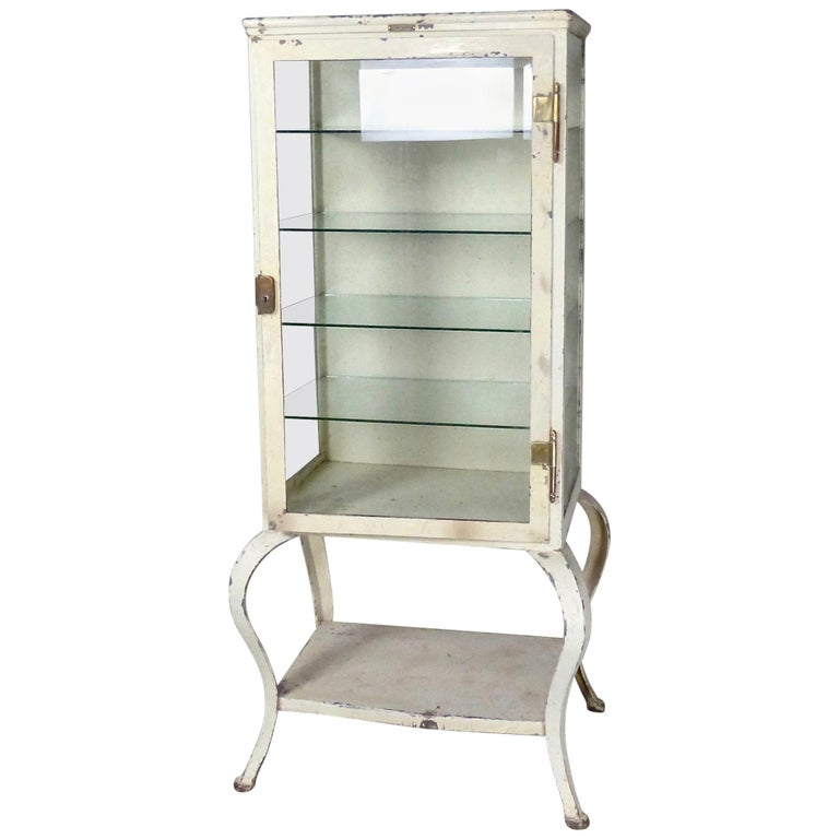 1910 Metal Apothecary Cabinet By M. Weiss And Co., Newark