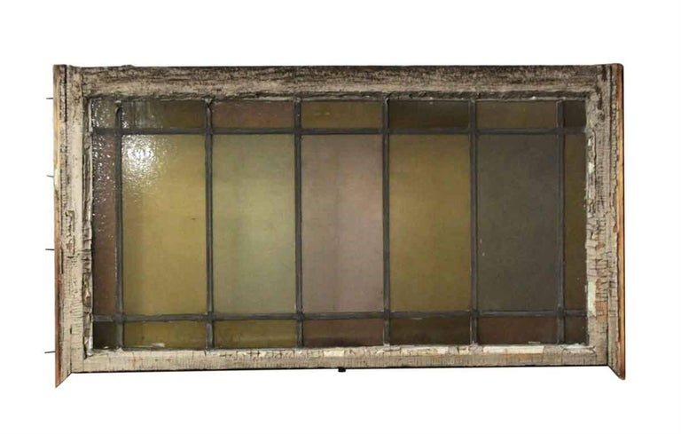 1910 reclaimed stained glass window with pastel colored glass. Shows wear. Priced each. Eight available at time of posting. This can be seen at our 1800 South Grand Ave location in Downtown LA.