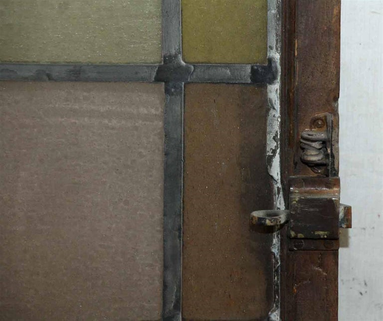 1910 Reclaimed Pastel Colored Stained Glass Rectangular Window In Excellent Condition For Sale In New York, NY