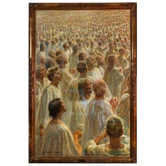 "1910 Study for ""The Large white crowd"", Heinrich August Emil Dohm, Denmark"