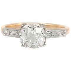 1910s 14 Karat Yellow Gold Engagement Ring