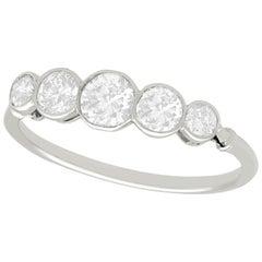 1910s Antique 1.23 Carat Diamond and Platinum Five-Stone Ring