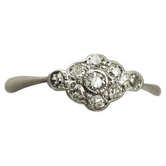 1910s Antique Diamond and White Gold Cocktail Ring