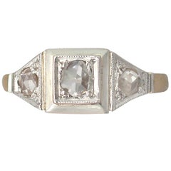 1910s Antique Diamond and Yellow Gold Cocktail Ring
