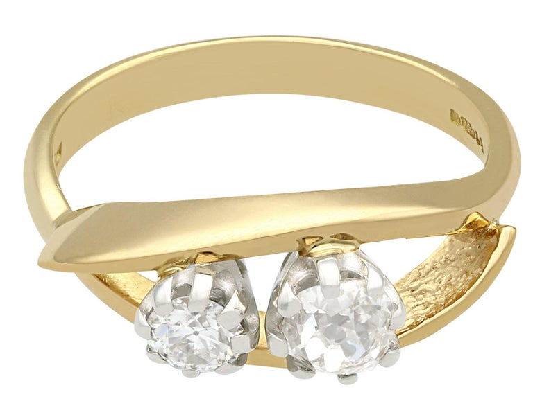 1910s Antique Diamond Yellow Gold Cocktail Ring In Excellent Condition For Sale In Jesmond, Newcastle Upon Tyne