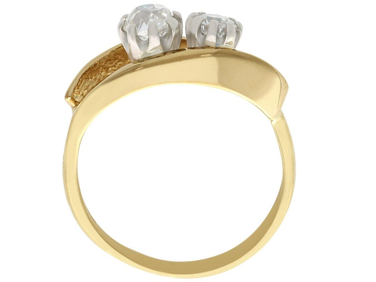 Women's 1910s Antique Diamond Yellow Gold Cocktail Ring For Sale