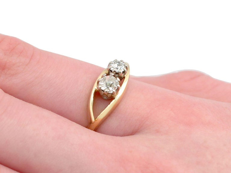 1910s Antique Diamond Yellow Gold Cocktail Ring For Sale 2