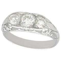 1910s Antique French Diamond and Platinum Trilogy Ring