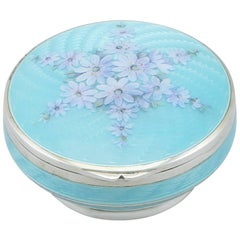1910s Antique Sterling Silver and Enamel Box