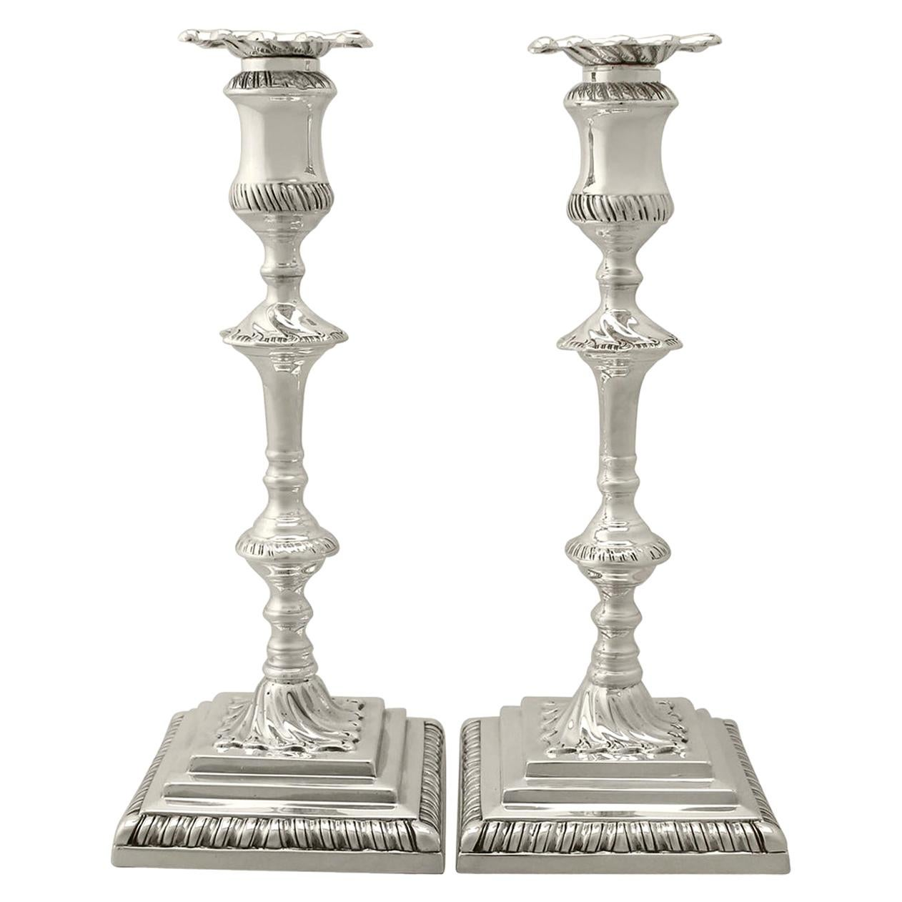 1910s Antique Sterling Silver Candlesticks