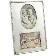 Antique George V 1914 Sterling Silver Double Photograph Frame