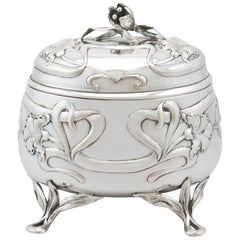 1910s Austro-Hungarian Silver Tea Caddy