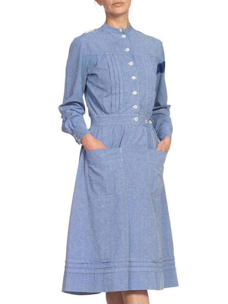 1910's Cotton War Nurse Dress For Sale 1