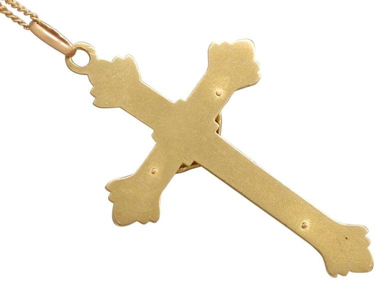 1910s French Yellow Gold 'Crucifix' Pendant 2