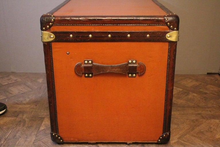 1910s Orange Louis Vuitton Steamer Trunk, Malle Louis Vuitton For Sale 4
