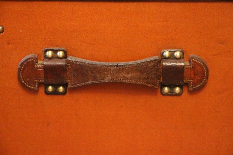 1910s Orange Louis Vuitton Steamer Trunk, Malle Louis Vuitton For Sale 5