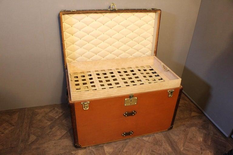 1910s Orange Louis Vuitton Steamer Trunk, Malle Louis Vuitton For Sale 12