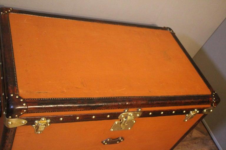 1910s Orange Louis Vuitton Steamer Trunk, Malle Louis Vuitton For Sale 13