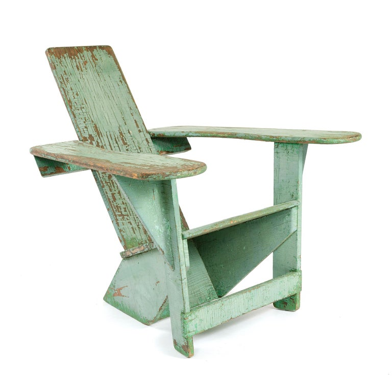 1910s Pair of Westport Chairs by Thomas Lee for Harry Bunnell In Good Condition For Sale In Sagaponack, NY