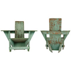 1910s Pair of Westport Chairs by Thomas Lee for Harry Bunnell