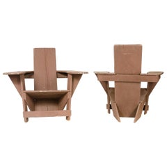 1910s Pair of Westport Lounge Chairs by Thomas Lee for Harry Bunnell