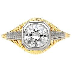1910s Platinum and White Engagement Ring