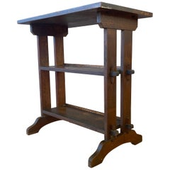 1910s Roycroft Little Journey Book Stand in Oak