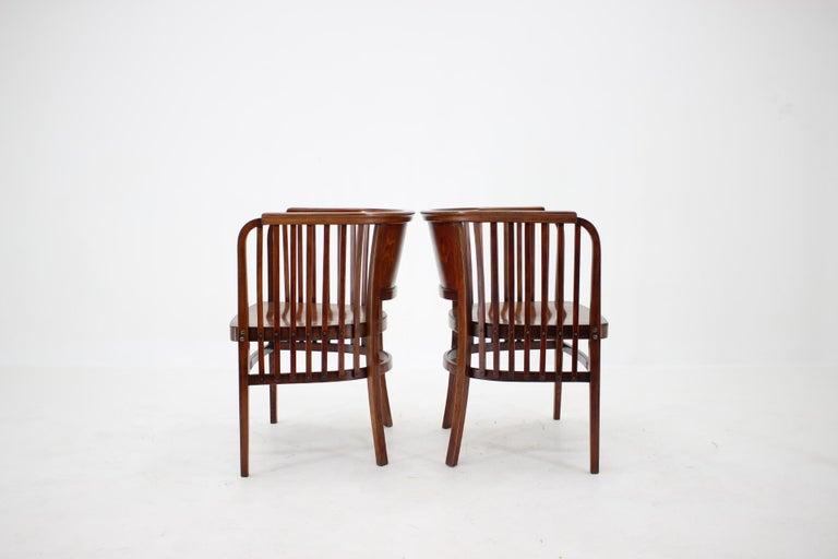 Art Nouveau 1910s Set of Two Marcel Kammerer Wooden Chairs for Gebruder Thonet For Sale