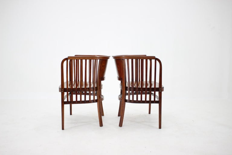 Austrian 1910s Set of Two Marcel Kammerer Wooden Chairs for Gebruder Thonet For Sale