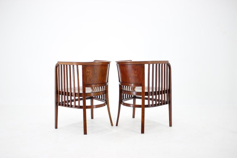 1910s Set of Two Marcel Kammerer Wooden Chairs for Gebruder Thonet In Good Condition For Sale In Praha, CZ