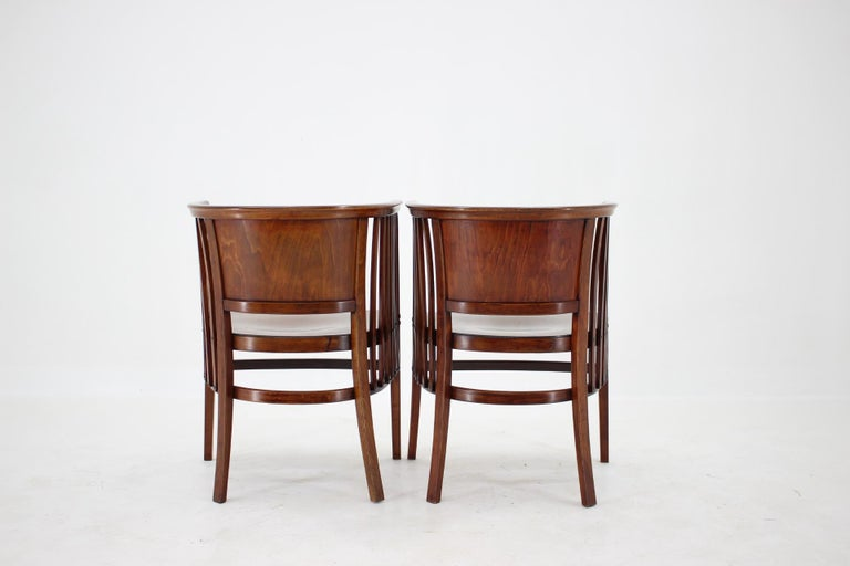 20th Century 1910s Set of Two Marcel Kammerer Wooden Chairs for Gebruder Thonet For Sale