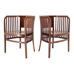 1910s Set of Two Marcel Kammerer Wooden Chairs for Gebruder Thonet