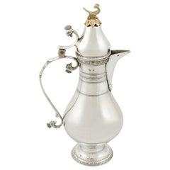 1910s Turkish Silver Coffee Jug