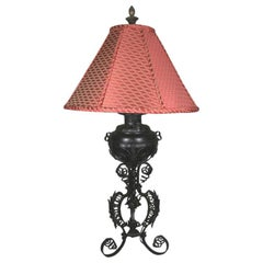 1910s Wrought Iron Single Lamp